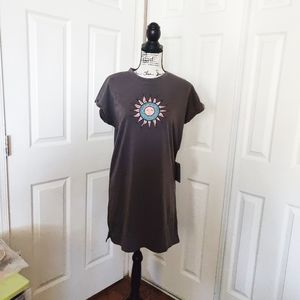 J for Justify Gray Tee Shirt Dress Size Medium.